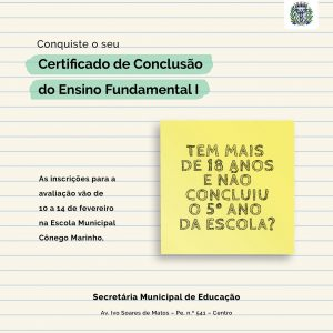 Conclusão do Ensino Fundamental I Prefeitura de Delfinópolis