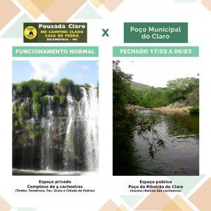 POÇO MUNICIPAL DO CLARO E CAMPING CLARO SÃO DIFERENTES