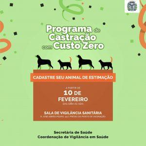 Programa de Castração com Custo Zero - Prefeitura de Delfinópolis